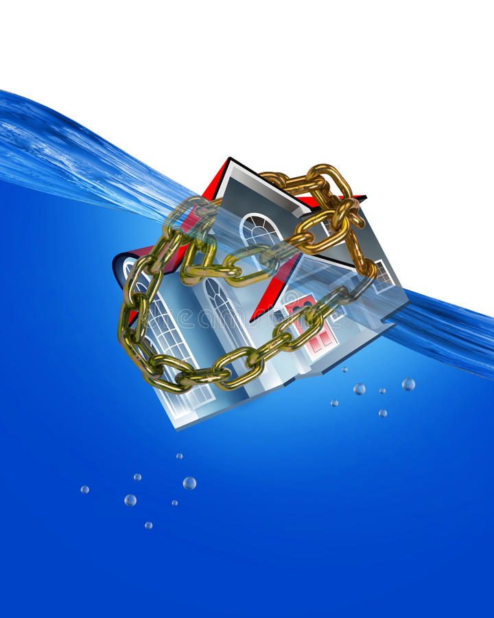 Home Under Water. vector illustration