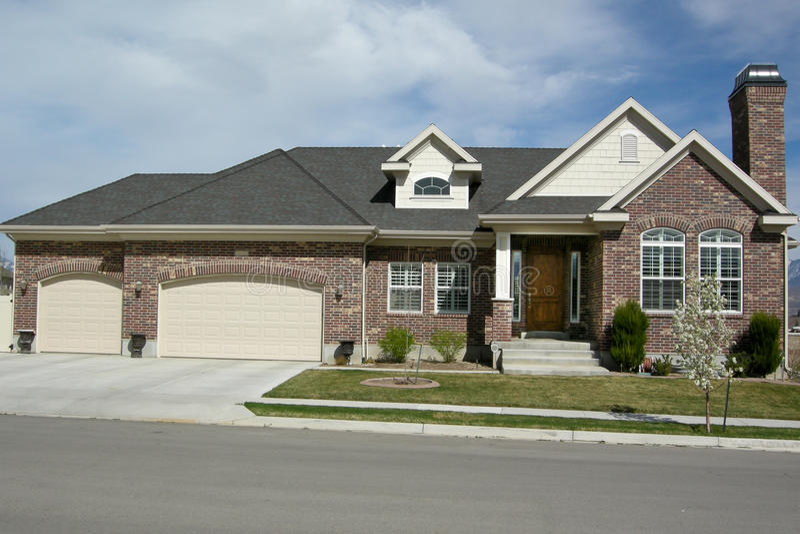 Download Home in Utah stock image. Image of sunny, brick, rates - 24269919