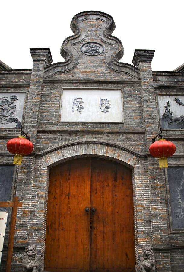 HOME velha Chengdu Sichuan China da pedra da porta foto de stock