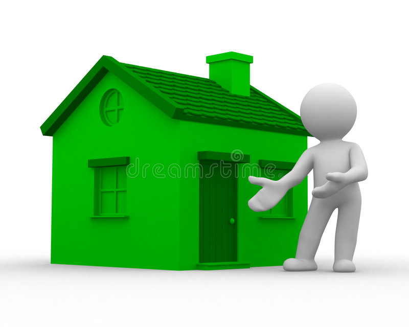 HOME verde ilustração stock