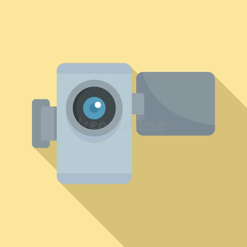 Home video camera icon, flat style vector illustration