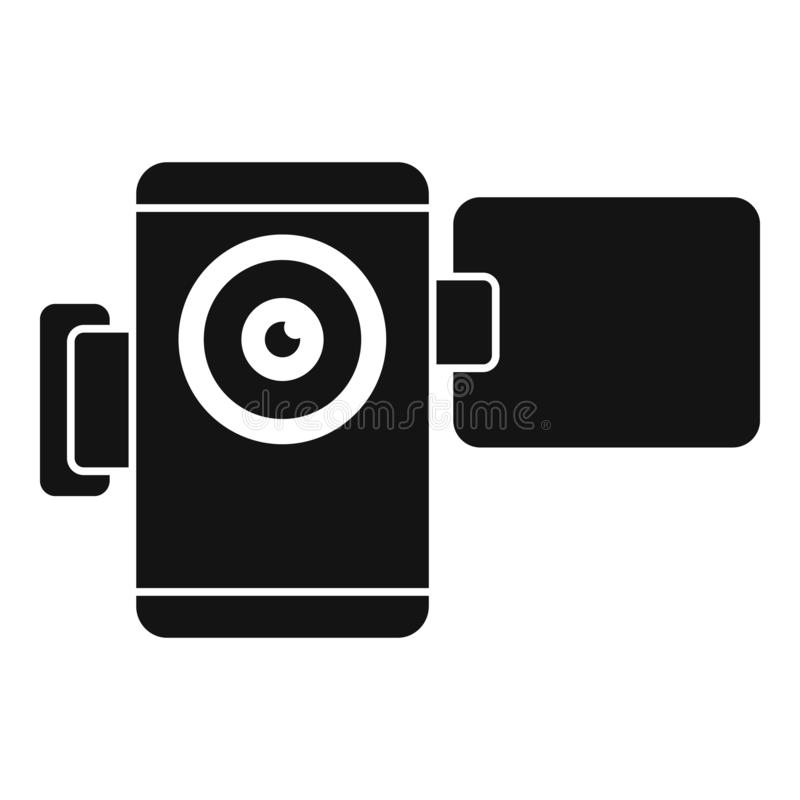 Home video camera icon, simple style vector illustration