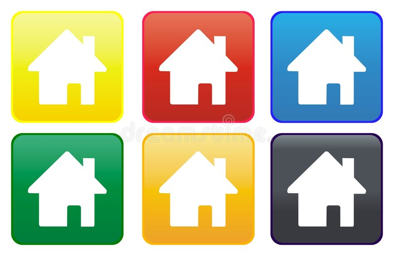 Home web button royalty free illustration