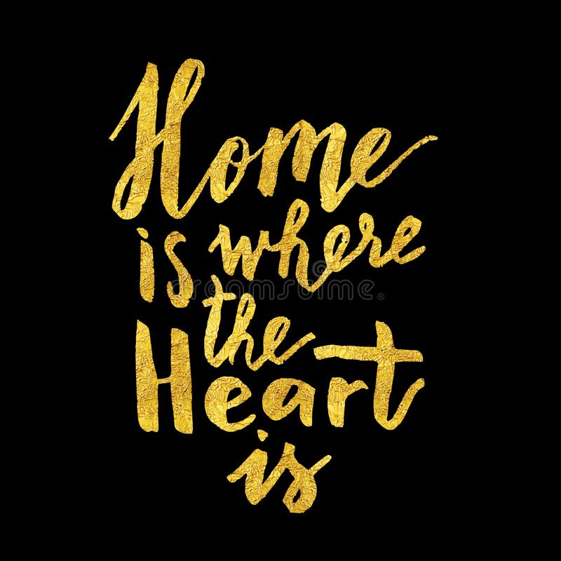 Home is where the heart is vector illustration