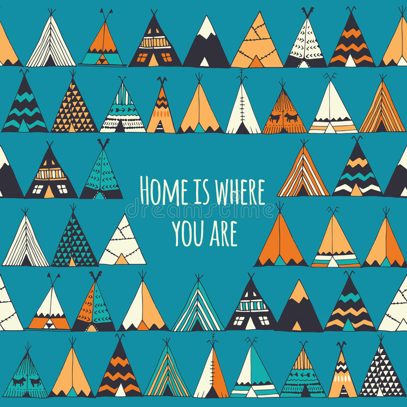 Home is where you are. stock illustration
