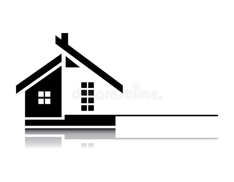 Download Home on white background stock vector. Image of building - 27013615