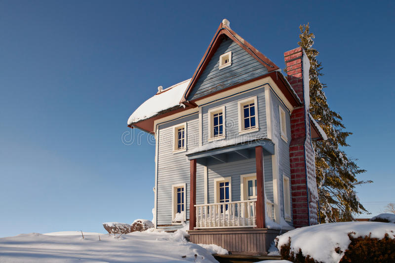 Home in winter stock photography