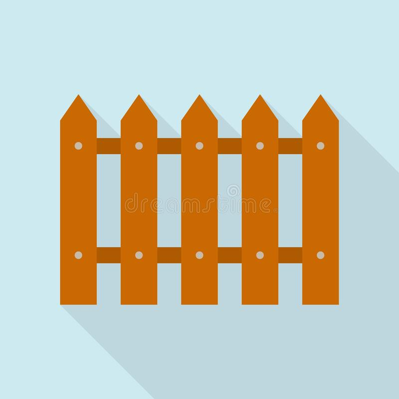 Home wood fence icon, flat style. Home wood fence icon. Flat illustration of home wood fence vector icon for web design royalty free illustration