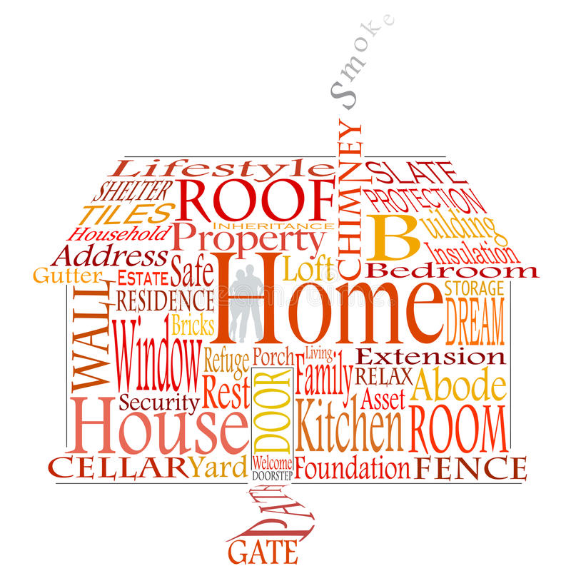 Download Home words stock vector. Illustration of architecture - 14391714