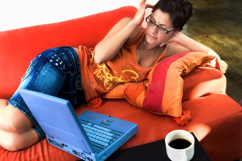 home working arkivfoto
