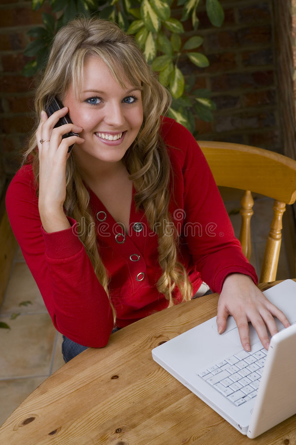 Home Working Too royalty free stock photography