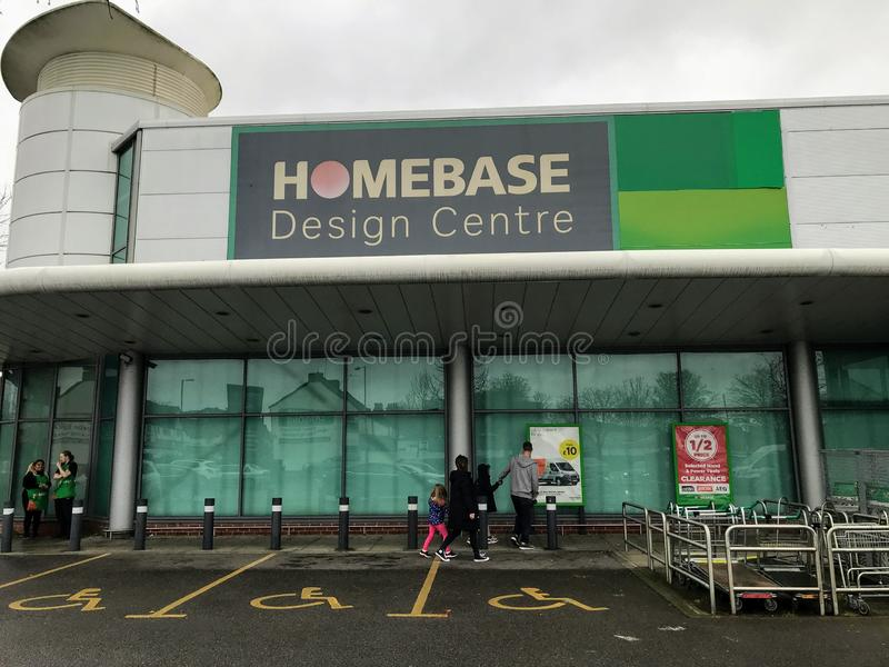 Homebase design centre. Homebase is a British home improvement retailer and garden centre with stores across the United Kingdom and Republic of Ireland. Founded stock image