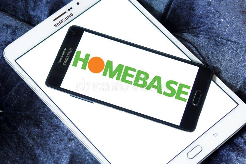 Homebase retailer logo. Logo of Homebase retailer on samsung mobile. Homebase is a British home improvement retailer and garden centre, with stores across the stock image