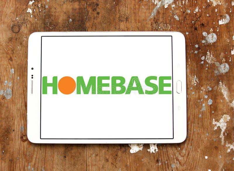 Homebase retailer logo. Logo of Homebase retailer on samsung tablet on wooden background. Homebase is a British home improvement retailer and garden centre, with stock photos