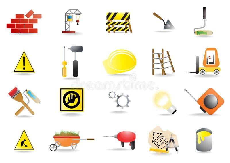 homebuilding hjälpmedel stock illustrationer