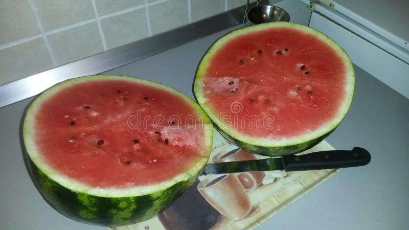 Homegrown Watermelon royalty free stock photo