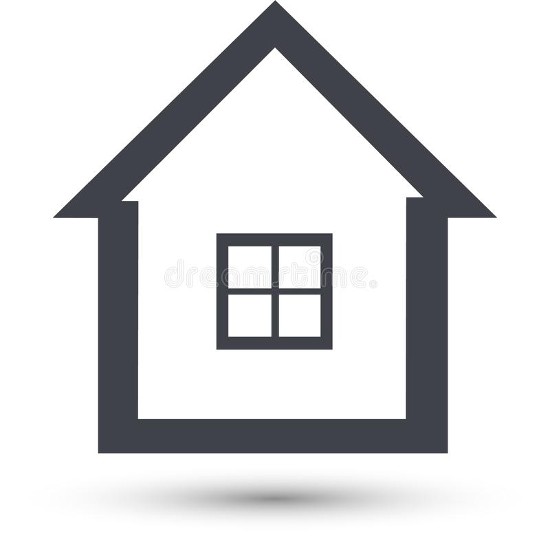 Home Vector Line Icon. House Symbol stock illustration