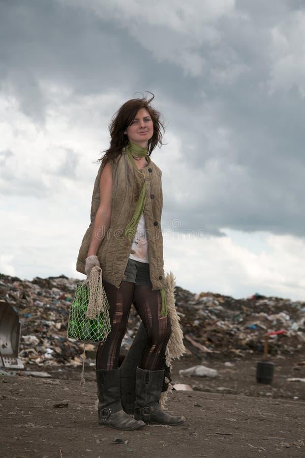 homeless девушки стоковое изображение rf