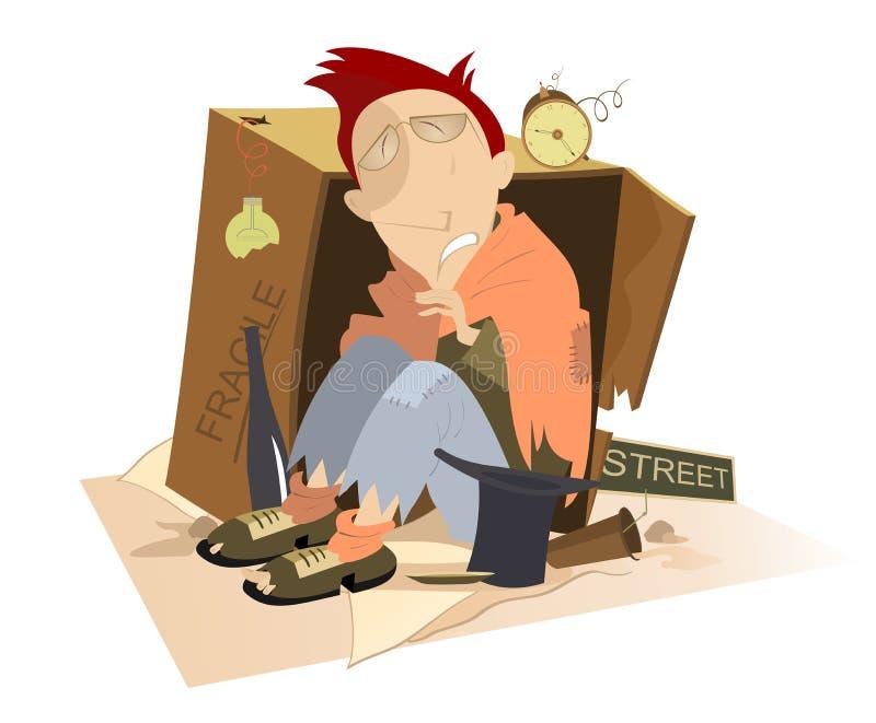 homeless ilustración del vector
