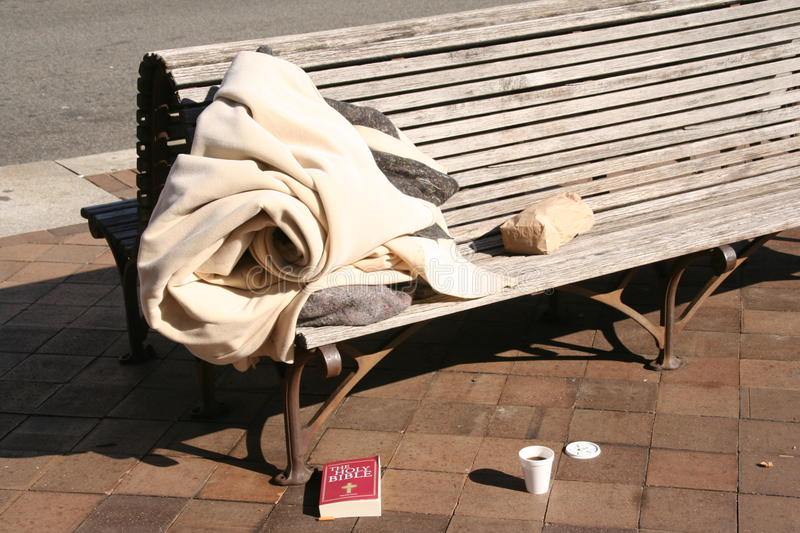 Download Homeless Bible stock image. Image of problem, bench, coffee - 13414231