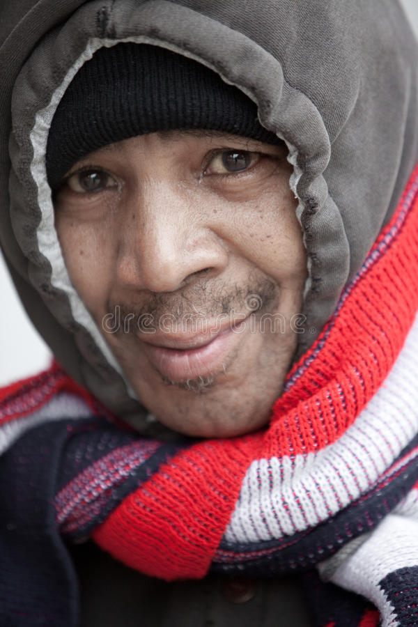 Homeless in Chicago stock photography