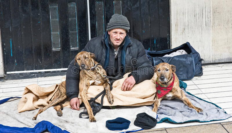 Homeless in Edinburgh stock photography