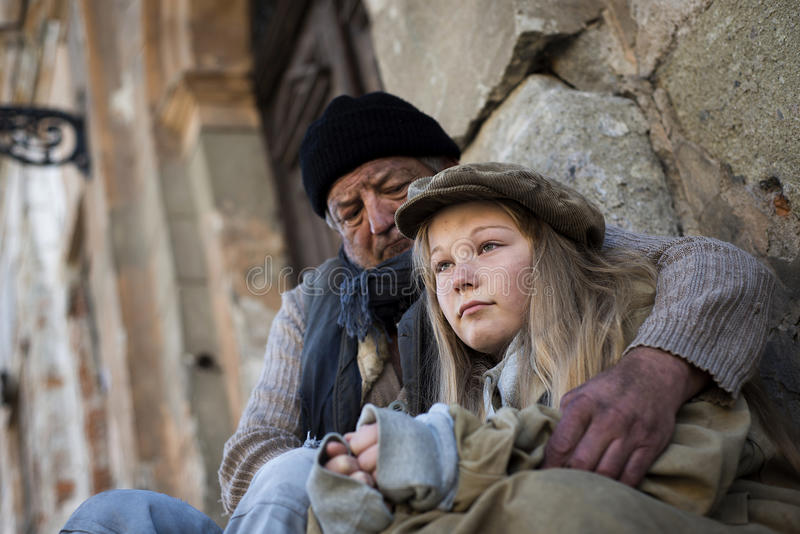 Homeless family. Is in very sad situation stock photos