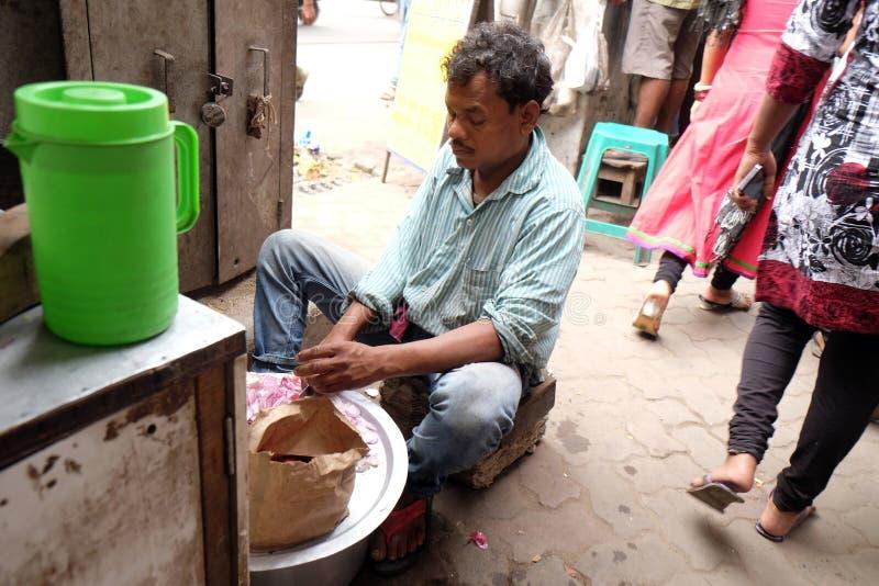 Homeless family living on the streets of Kolkata. India stock photos