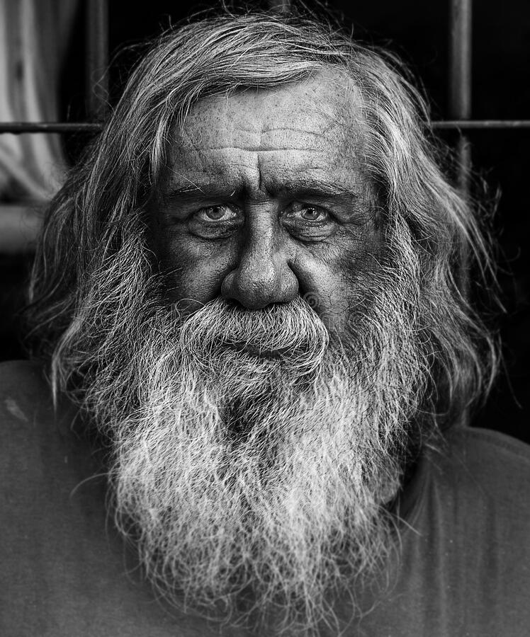 Homeless and forgotten old man in Argentina stock images