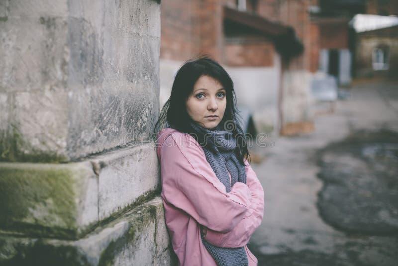 Homeless girl stock photography