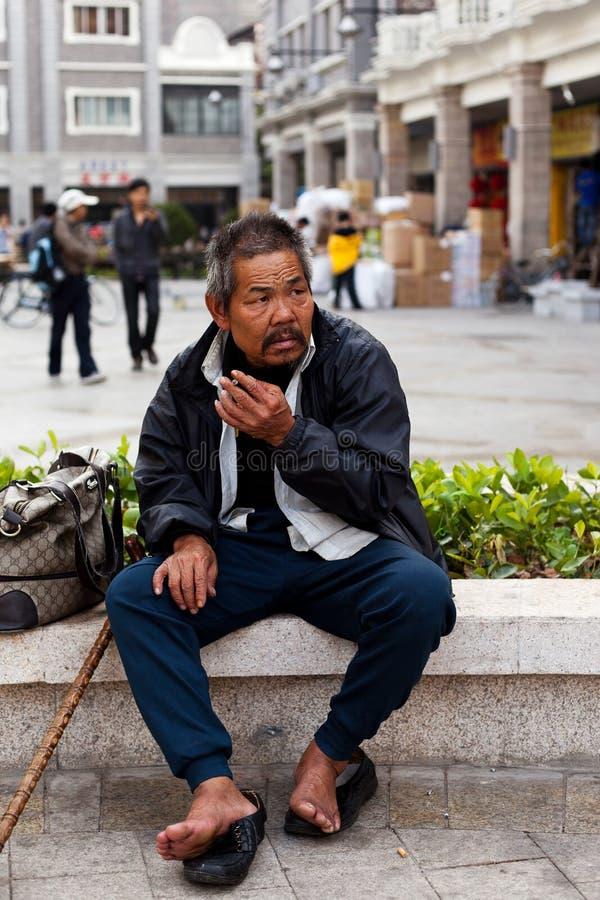 Download Homeless man editorial photography. Image of urban, human - 17077632