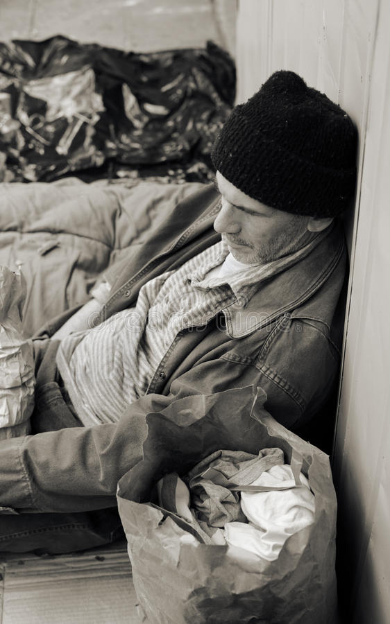 Download Homeless Man on the Street stock photo. Image of foreclosure - 12569288