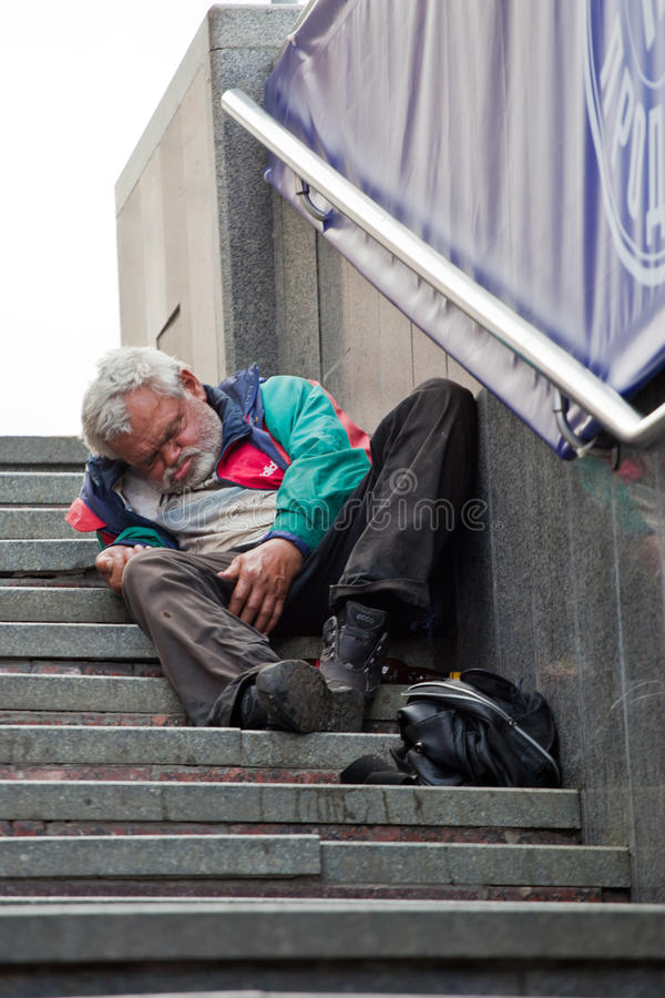 Homeless people royalty free stock photography