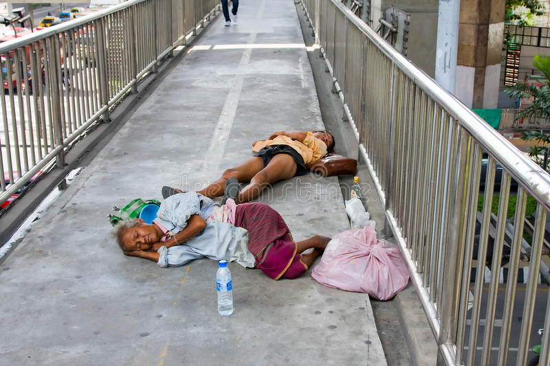 Download Homeless People In Thailand Editorial Photo - Image of outside, homelessness: 21805641