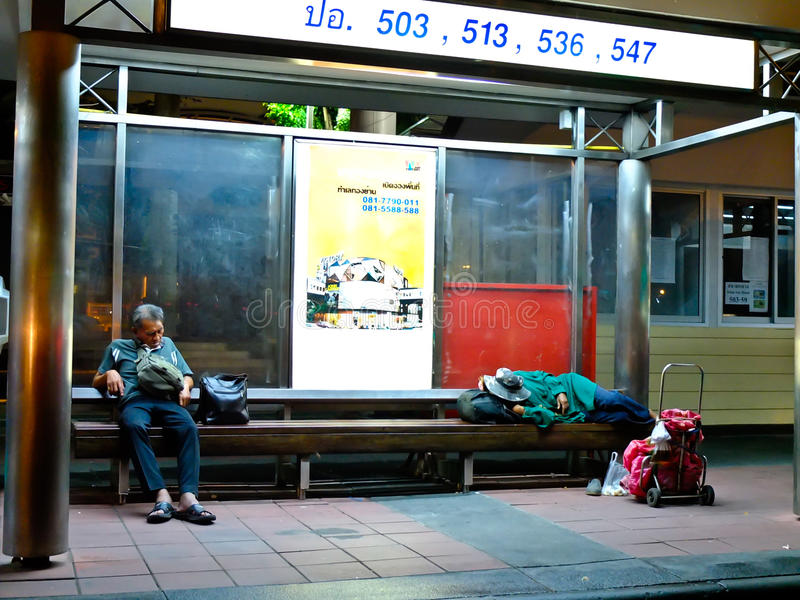 Homeless in Thailand. Homeless at Bangkok in Thailand stock images