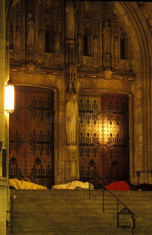 Homeless under Jesus royalty free stock photos