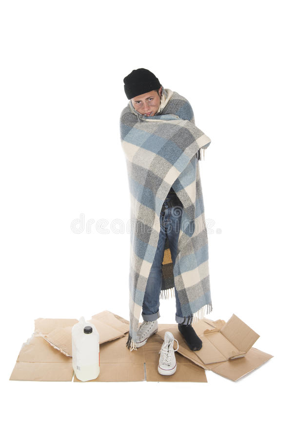 Free Homeless Wrapped In A Blanket Stock Images - 32360054