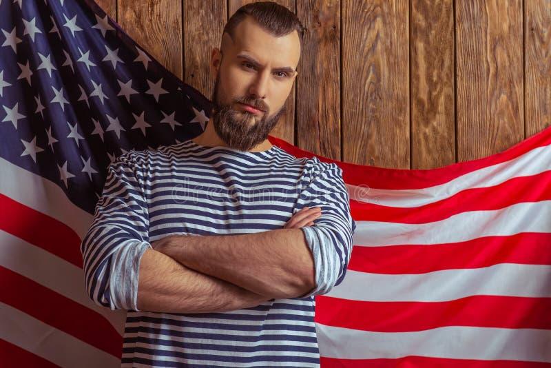 Homem à moda com barba fotografia de stock royalty free