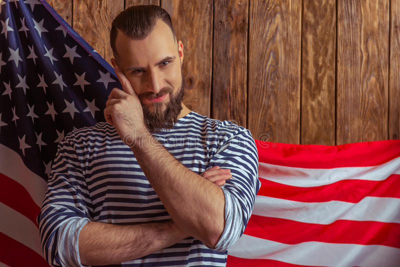 Homem à moda com barba fotos de stock