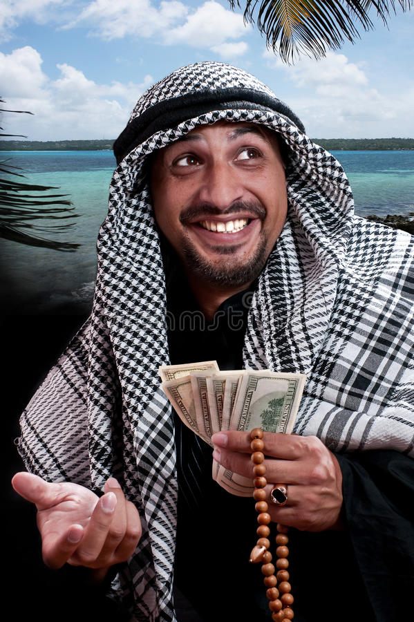 Homem árabe fotografia de stock royalty free