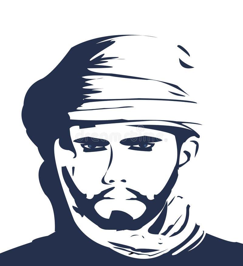 Homem árabe ilustração do vetor