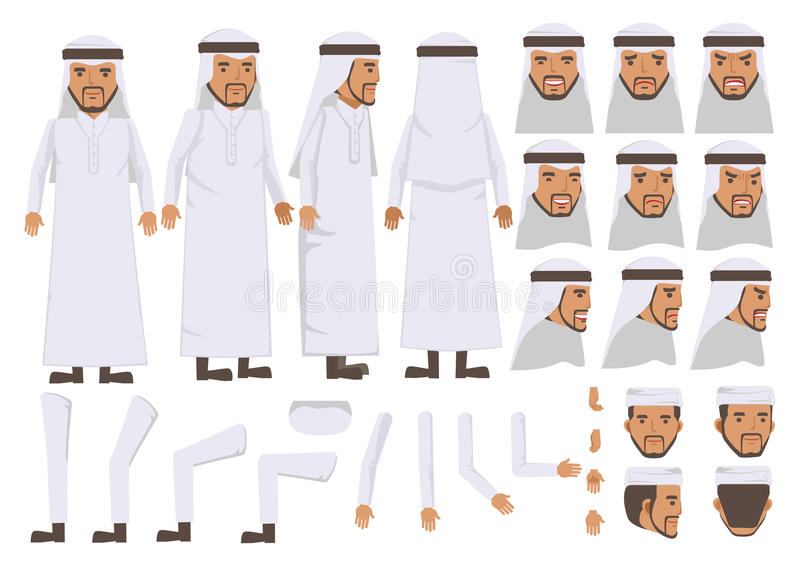 Homem árabe ilustração royalty free