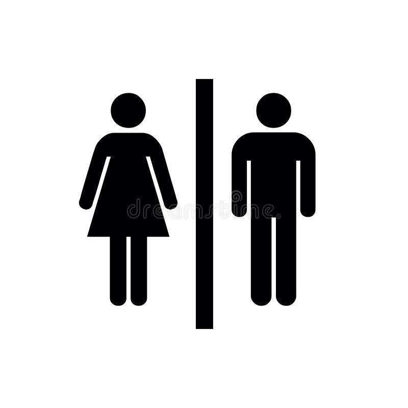 Homem, ícone da mulher, homem, vetor do ícone da mulher, homem, ícone liso, homem da mulher, sinal do ícone da mulher, homem, íco imagens de stock royalty free