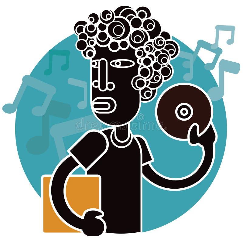 Homem 1 da música ilustração royalty free