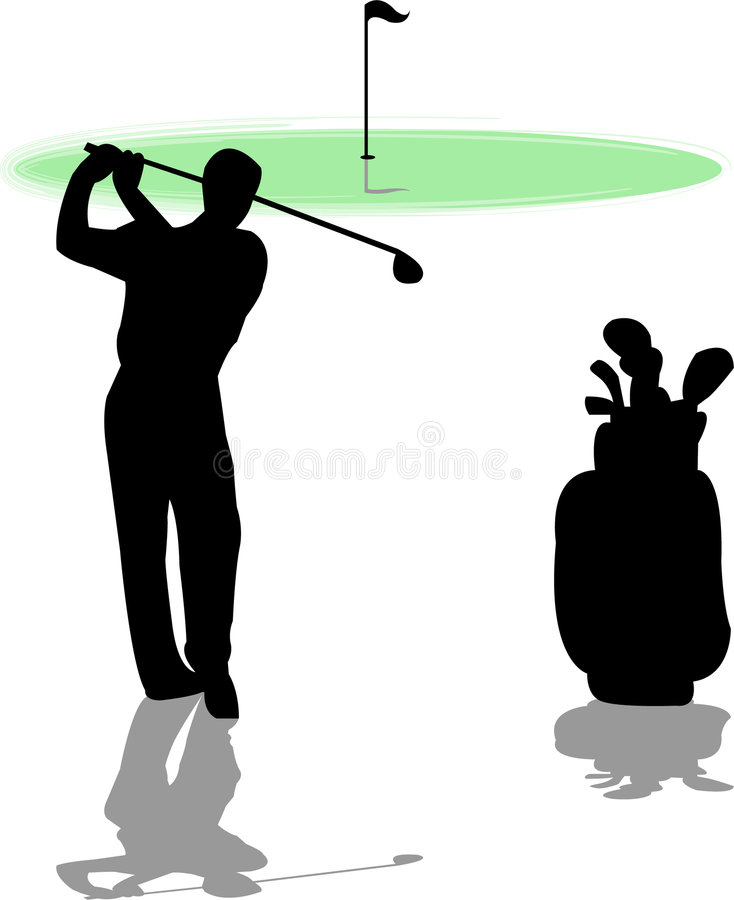 Homem 2 do jogador de golfe ilustração royalty free