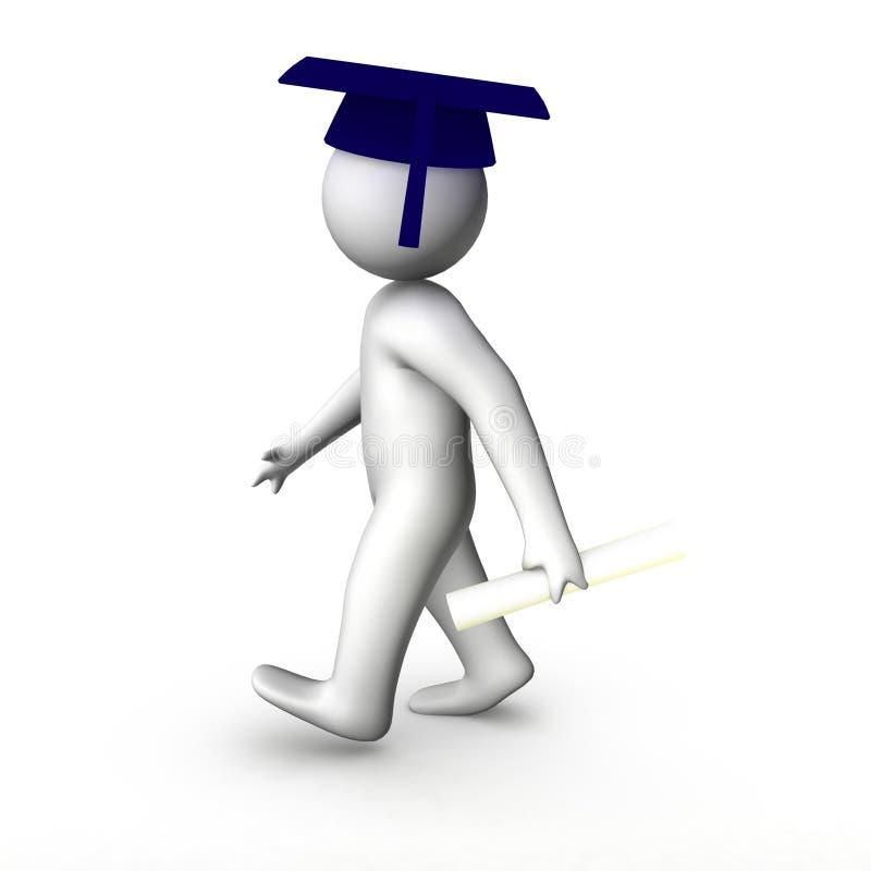 homem 3d graduado ilustração do vetor