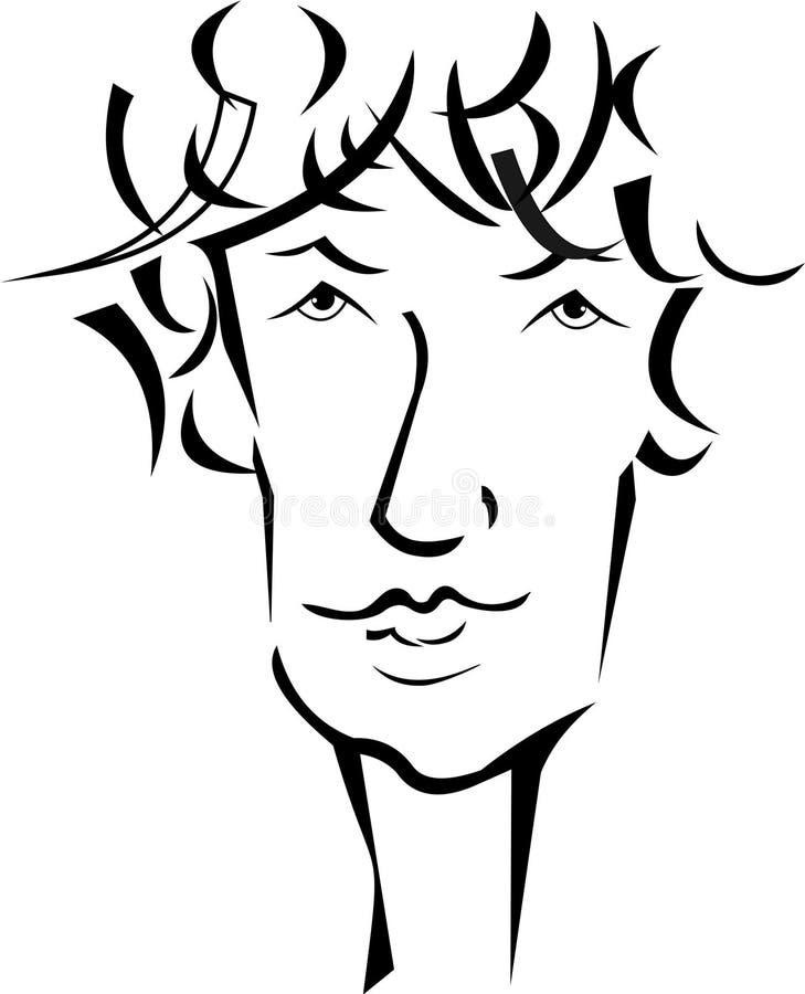 Homem ilustração stock