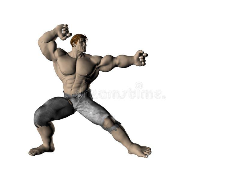Download Homem 9 da ação ilustração stock. Ilustração de stare, construtor - 531245