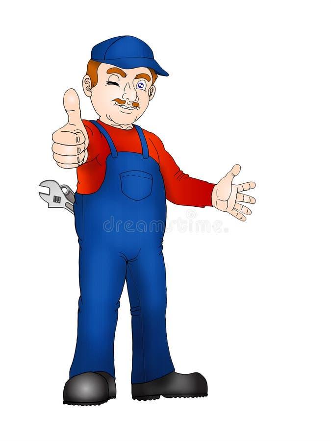 Homem acessível optimista ilustração stock
