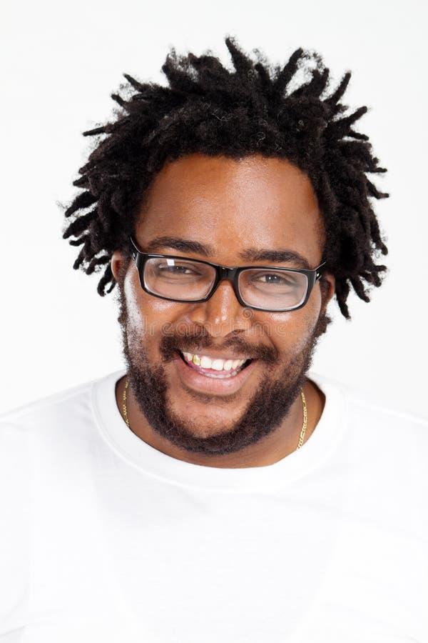 Homem africano feliz fotografia de stock